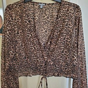 Charlotte Russe Animal print (cheetah) top